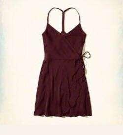 Satin Wrap Dress - Hollister