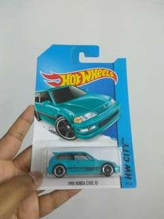 Honda EF hot wheels Teal