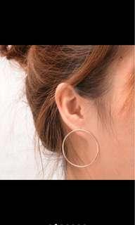 Bnip silver hoop earrings