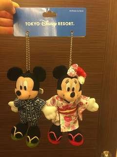 東京迪士尼的米老鼠與米妮 全新