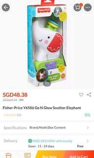 Fisher Price elephant soother