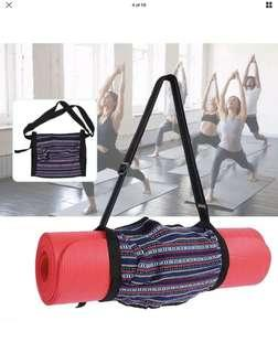 Yoga Bag Mat Simple Ethnic Tote Carrier Exercise Strap Full Zip Shoulder Large