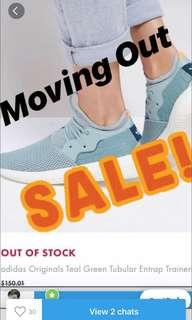 MOVING OUT SALE! Adidas Originals Teal Green Tubular Entrap Trainers #mhb75