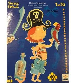 FRENCH BRAND DJECO pirates puzzle 40pc