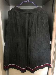 針織百摺半身裙
