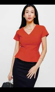 BNWT Love Bonito Tolula textured peplum top