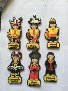Rubber magnet (6 pcs) from Sarawak