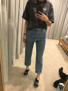 article of society high waisted mom jeans