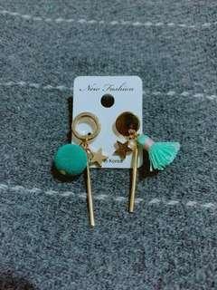 綠色小蘇蘇耳環