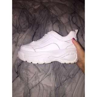 RUBI White Chunky Sneakers