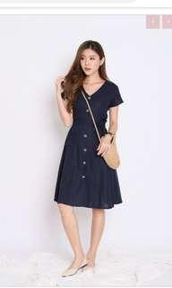 🚚 Topazette Urban Button Down Dress in Navy