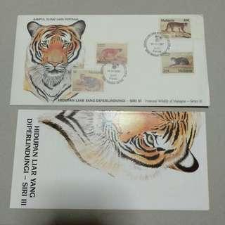 FDC 1987 hidupan liar yang diperlindungi di Malaysia siri 1 animals series i
