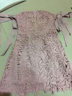 Dress pink sabrina