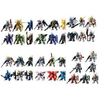FW Gundam Converge #3-#8 日版6套
