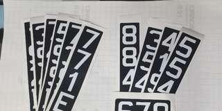 LICENSE PLATE NUMBER STICKER ESCOOTER WATERPROOF