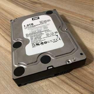 """[SOLD] 1TB WD Black HDD 3.5"""" 7200rpm SATA Western Digital Caviar hard disk drive"""