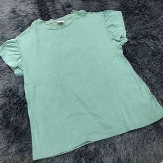 Ruffled Sleeved Top