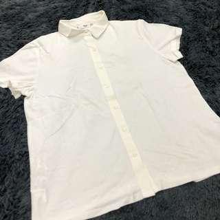 MANGO Soft White Polo