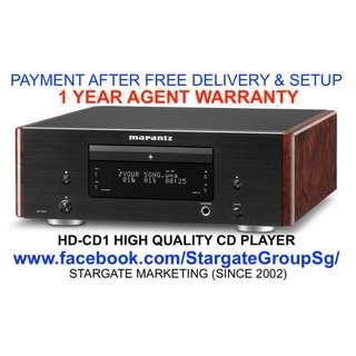 MARANTZ HD-CD1  HIGH QUALITY CD PLAYER/ 1 YEAR AGENT WARRANTY  (PAYMENT AFTER DELIVERY & SETUP)