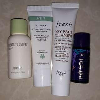 Assorted authentic skin care