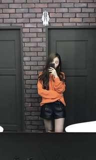 H&m橘色針織上衣