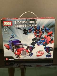Transformers Optimus prime Lego building blocks