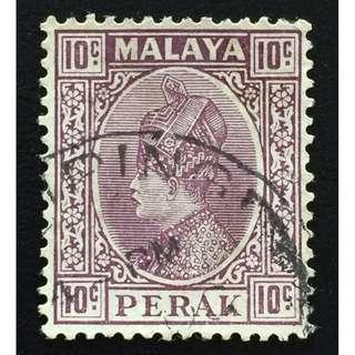 Malaya 1935 Perak Sultan Iskandar 10c Used SG#94 Q163