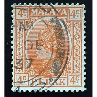 Malaya 1935 Perak Sultan Iskandar 4c Used SG#90 Q164