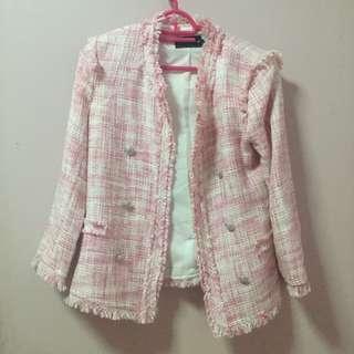 Pink Blazer Knitted