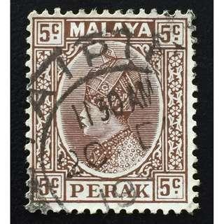Malaya 1935 Perak Sultan Iskandar 5c Used SG#91 Q165