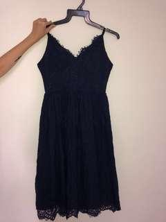 BLUE LACE DRESS #cnyclearance