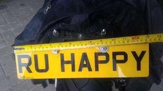 R U HAPPY 自訂車牌