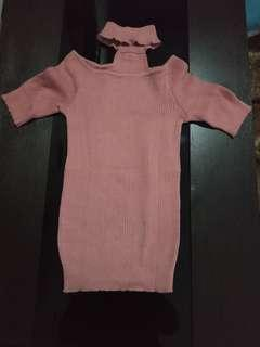 Top knit neck
