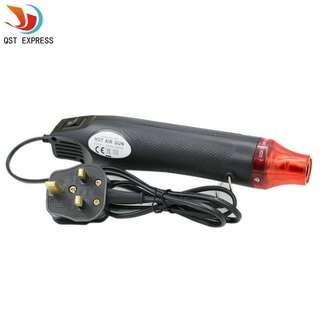 300W SG UK 3 Pin Heat Shrink Gun 220V hot air blower Electric Power DIY tool temperature Gun Shrink Plastic