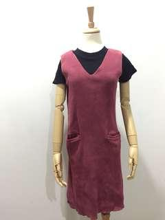 Maroon Dress Outer