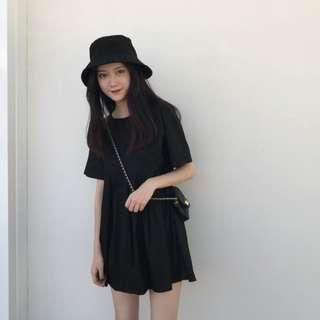 BRAND NEW -  Summer Korean Style Doll Dress with Sleeve - Black Colour - Freesize - Free normal mail