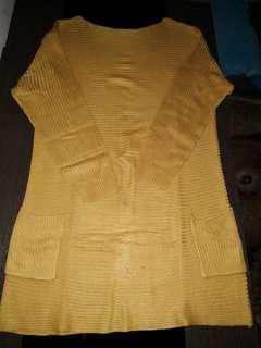 Tunik mustrard knit
