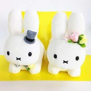 (日本代購) Miffy Wedding Doll Set 結婚 公仔