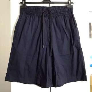COS 深藍 薄身 cotton blend shorts 短褲 hare