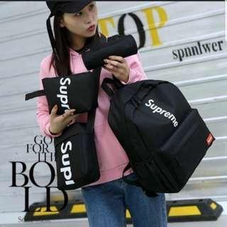 [INSTOCKS] SUPREME Basic Bag Backpack Set of 4