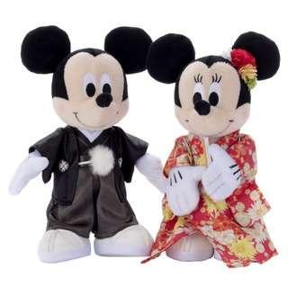 (日本代購) Mickey & Minnie Wedding Doll 米奇米妮日式和服結婚公仔