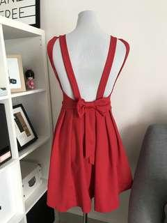 Red dress with sexy back details