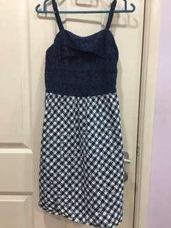 Nicole Dark Blue Casual Dress