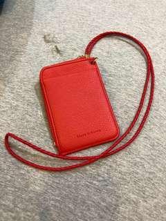🚚 降⬇️韓國買證件夾~紅色,可放三卡、鈔票