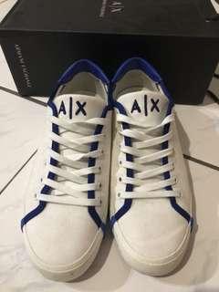 🚚 Armani AX藍邊白底板鞋 保證正品