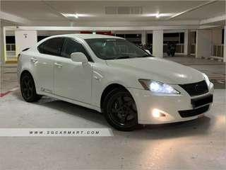 Sporty Lexus IS250 for rent