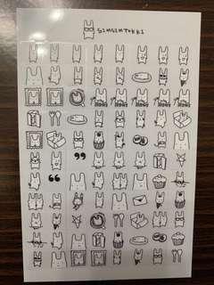 Simsimtokki 貼紙
