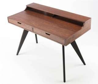 Crimson commune designer desk & chair - 1 month old