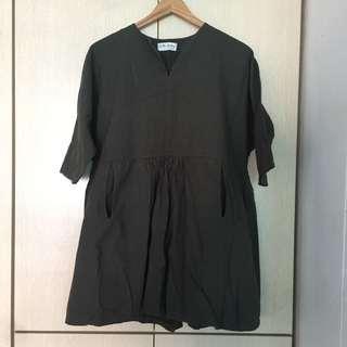 Olive Babydoll blouse