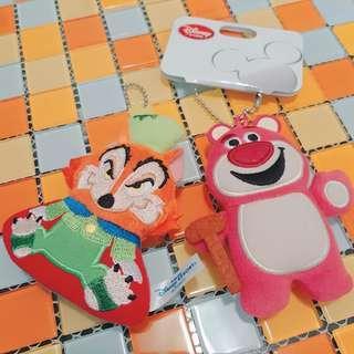🚚 迪士尼熊抱哥、壞狐狸玩偶吊飾